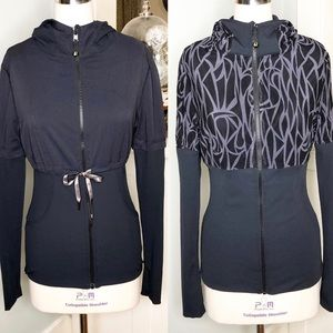 Lululemon Reversible Black Start Up Zip Jacket New